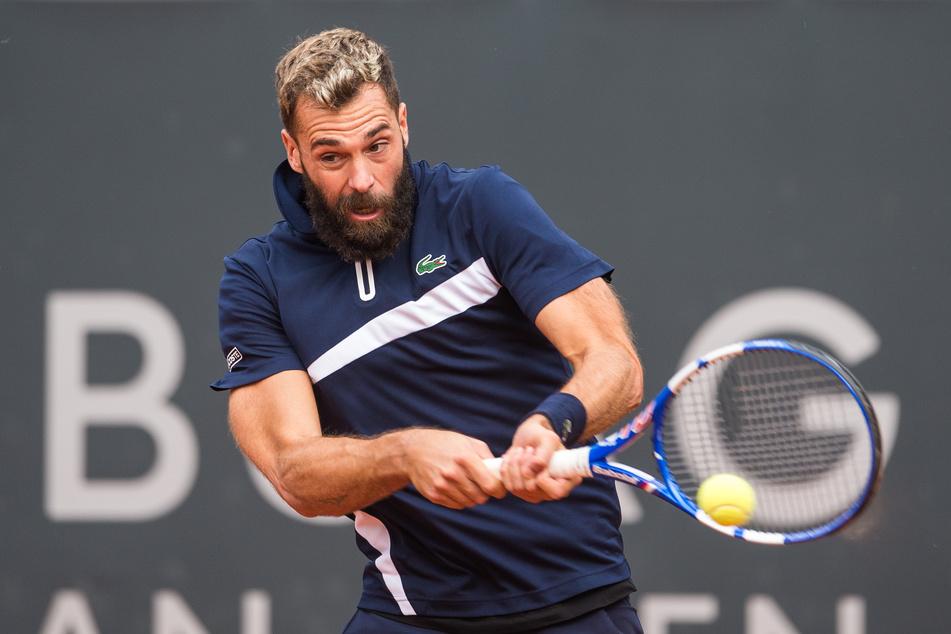 Tennis ATP-Tour - German Open, Einzel, Herren, 1. Runde im Stadion am Rothenbaum. Ruud (Norwegen) - Paire (Frankreich). Benoit Paire in Aktion.