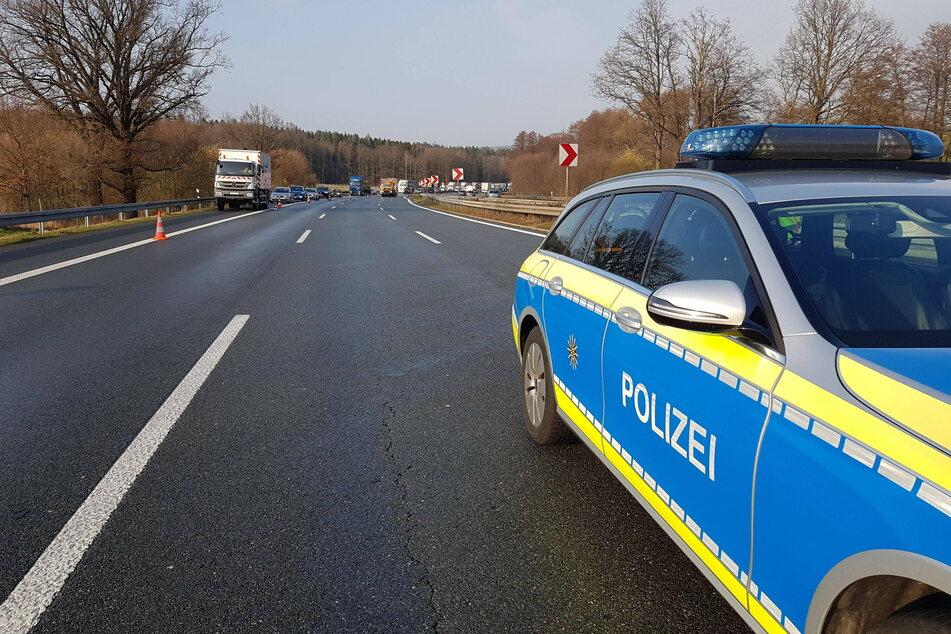 Die Autobahn musste kurzzeitig gesperrt werden.