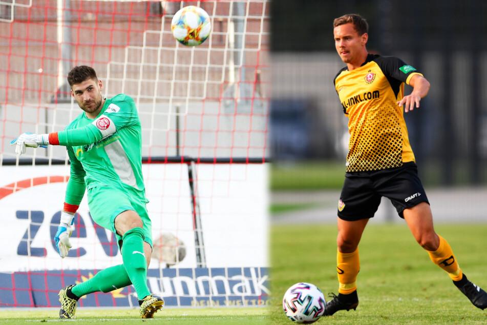 FSV-Keeper Johannes Brinkies (l.) und Dynamos Linksverteidiger Chris Löwe sind die am besten bewerteten Spieler ihrer Mannschaft.
