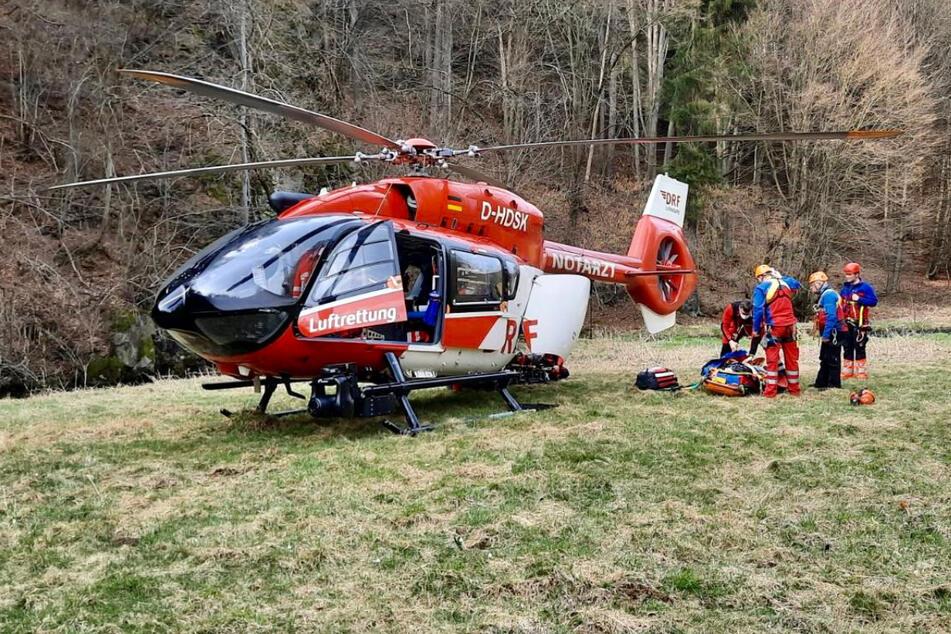 Der Hubschrauber Christoph 62 brachte die erhoffte Rettung.