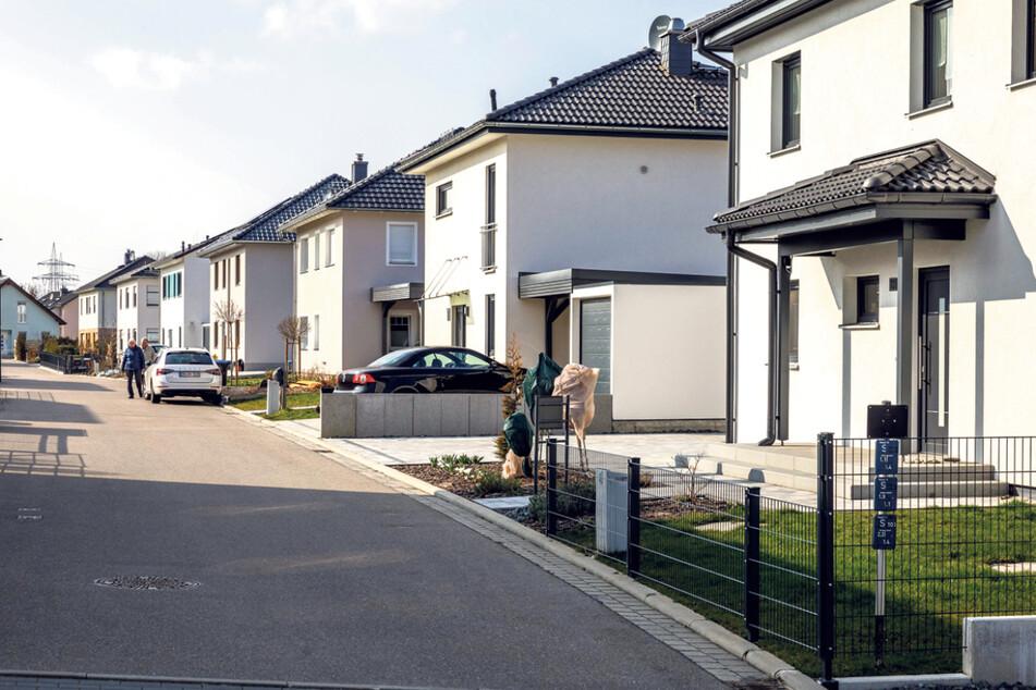 In der Nähe des Kaufparks Nickern entstand in den vergangenen Jahren eine der letzten großen Einfamilienhaus-Siedlungen auf kommunalem Boden.