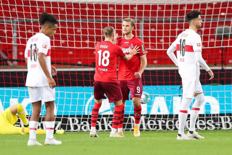 Sebastian Andersson nach einem seiner bislang zwei Tore für den 1. FC Köln.