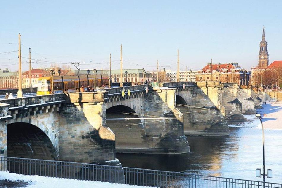 Augustusbrücke bleibt für Radler und Fußgänger offen