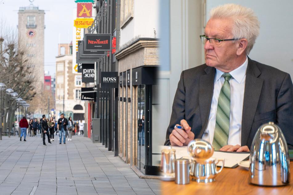 Ministerpräsident Kretschmann verteidigt Kriterien für Ladenöffnungen