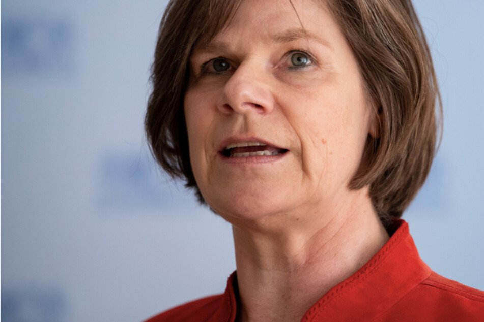 Ulrike Protzer (58), Direktorin des Instituts für Virologie an der TUM und am Helmholtz Zentrum München, bei einer Pressekonferenz.