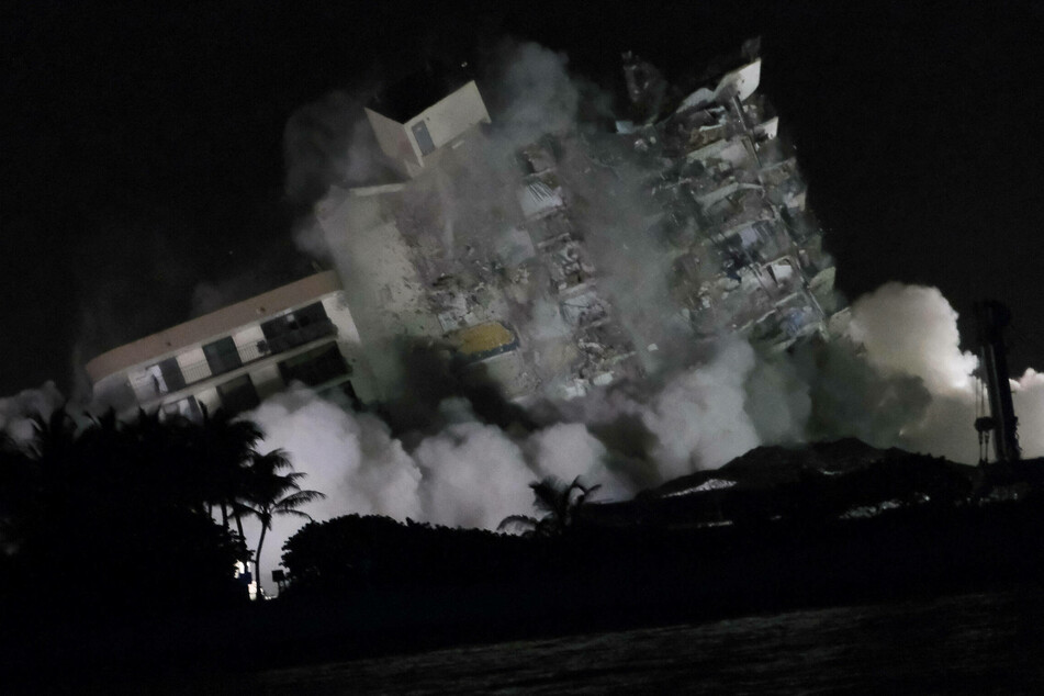 Remains of collapsed Surfside condo demolished ahead of Tropical Storm Elsa