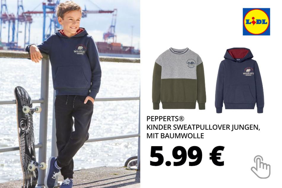 PEPPERTS® Kinder Sweatpullover Jungen, mit Baumwolle