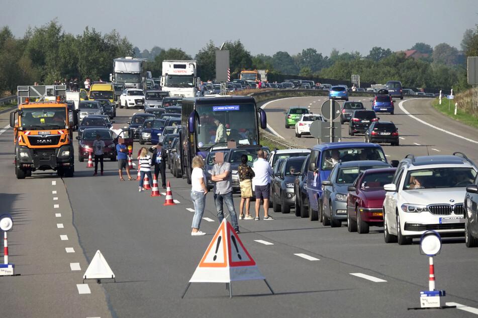 Auf der A4 kam es zu einem langen Stau.