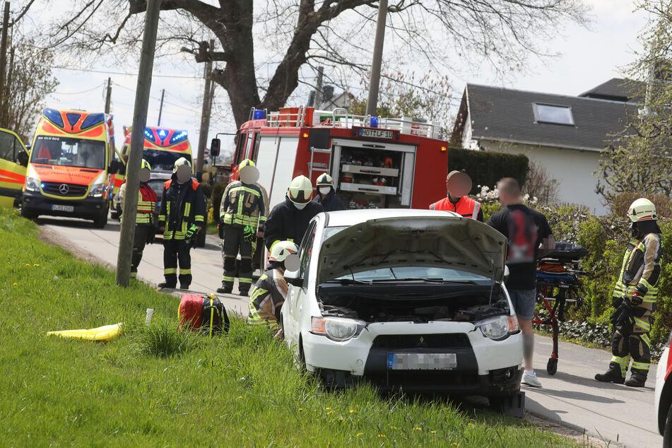 Feuerwehr, Rettungskräfte und Polizei waren vor Ort.