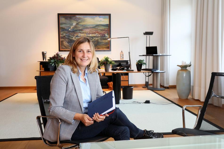 Hier arbeitet die Stadtchefin: Constance Arndt (43, Bürger für Zwickau) ist seit dem 1.November neue Oberbürgermeisterin von Zwickau.