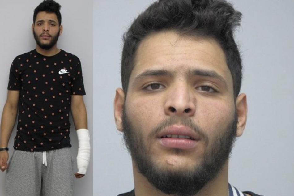 Mit diesen Fahndungsfotos sucht die Polizei weiterhin nach Aymen Abidi (25).