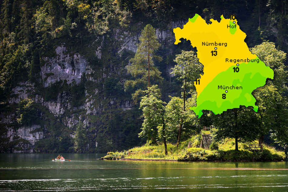 Wärmewelle für die Bayern: Föhnlage sorgt in den Alpen für Sommerwetter