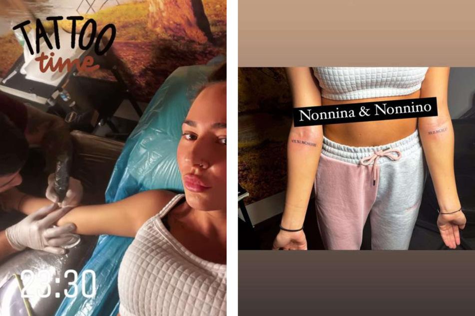 Alessia Herren (19) stattete am Sonntag ihrem Tätowierer einen Besuch ab und ließ sich mehrere Motive stechen.