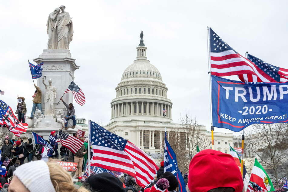 Pro-Trump supporters had stormed the Capitol building on January 6, leaving five dead.