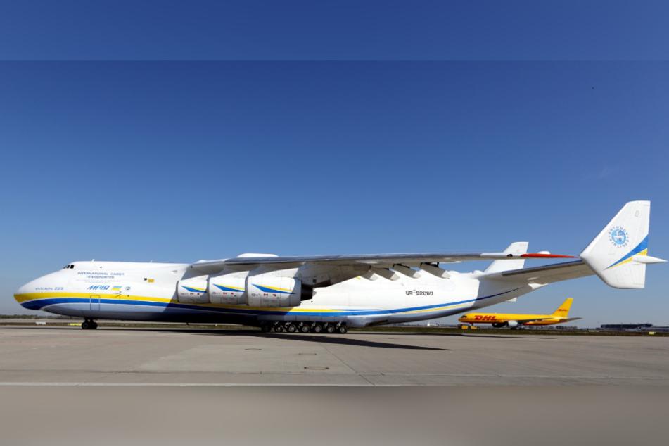 Die Antonow 225 ist das größte Frachtflugzeug der Welt.