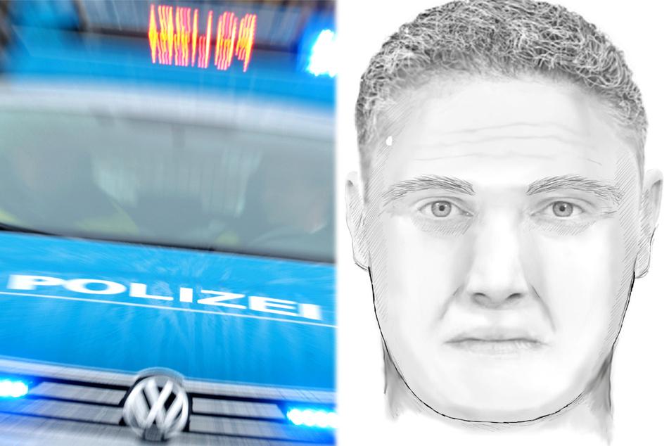 Die Polizei veröffentlichte ein Phantombild des Täters: Wer erkennt diesen Mann?