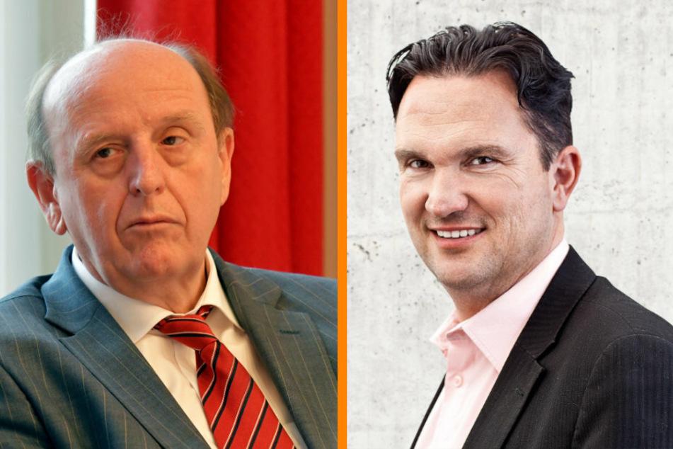andrat Christoph Scheurer (63, CDU, F.l.) und der Kreisvorsitzender Nico Tippelt (53, FDP, F.r.)