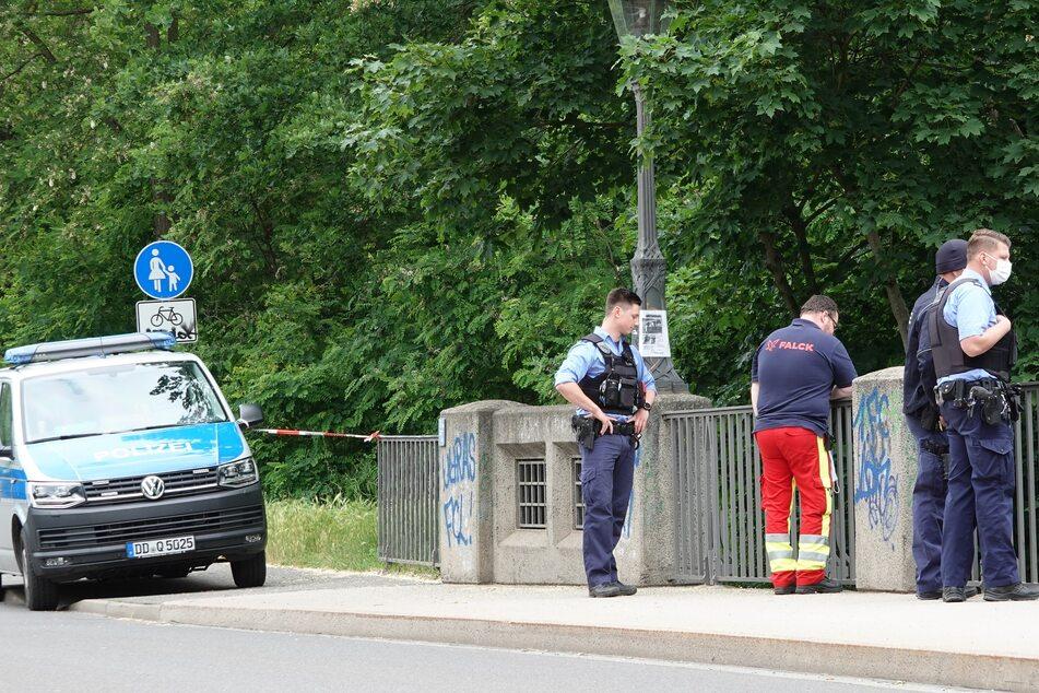 Polizeieinsatz im Leipziger Südwesten: Hier wurde am Sonntag eine Leiche gefunden.