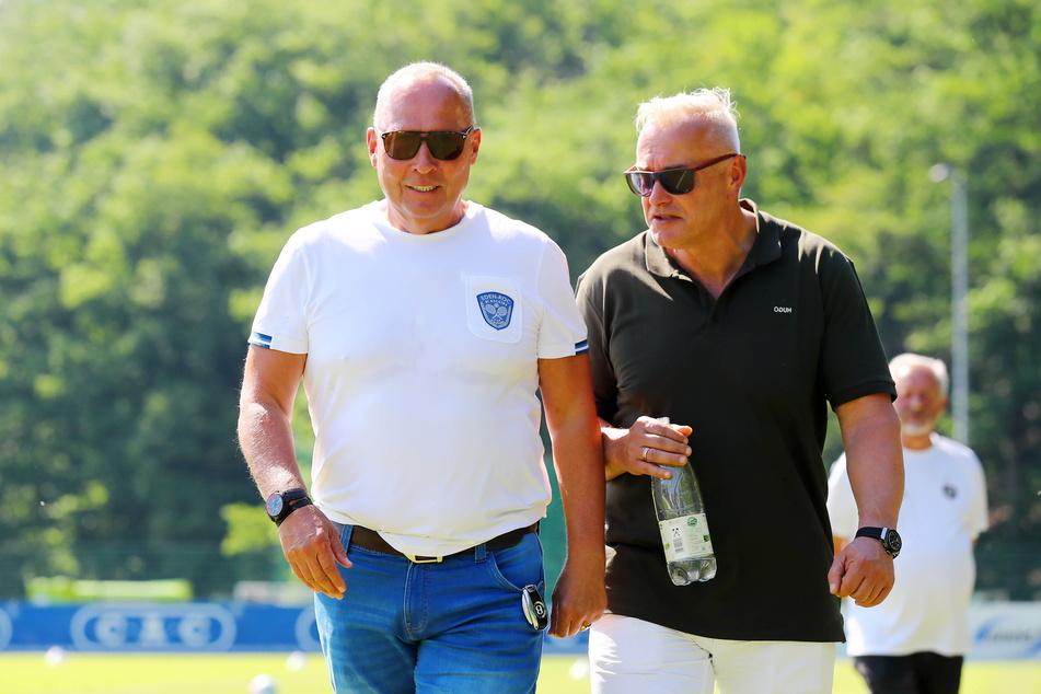 Müssen sich derzeit viel Kritik gefallen lassen: FCE-Präsident Helge Leonhardt (62, l.) und Geschäftsführer Michael Voigt (48)