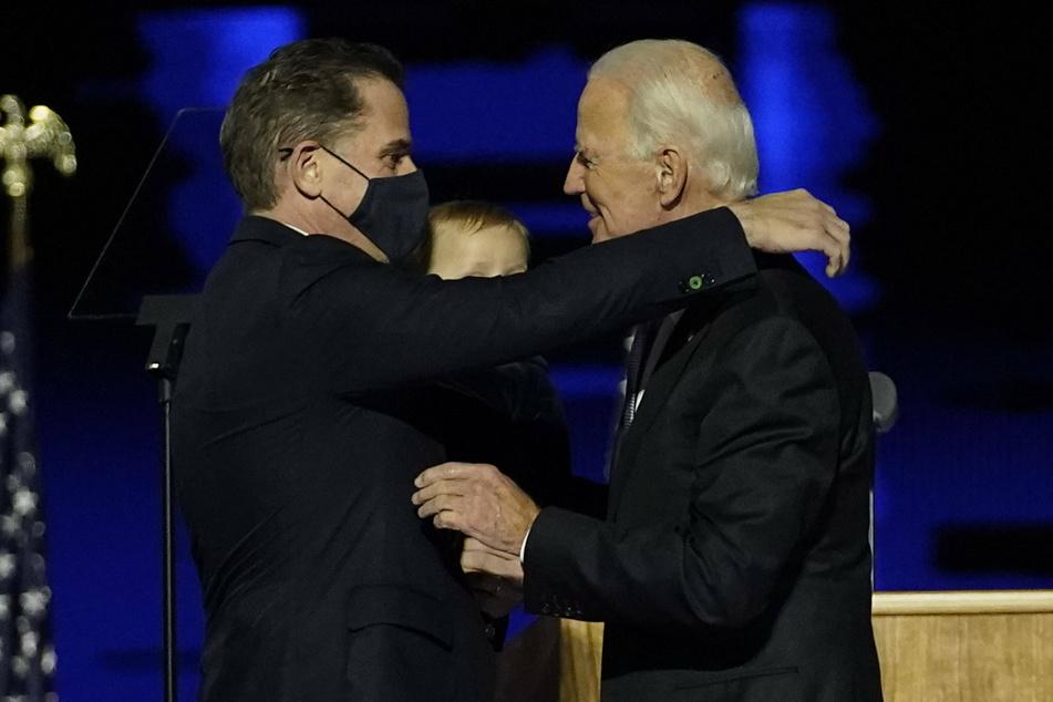 "Hunter Biden (50, l.), President-elect Joe Biden's son is under federal investigation over ""tax matters."""