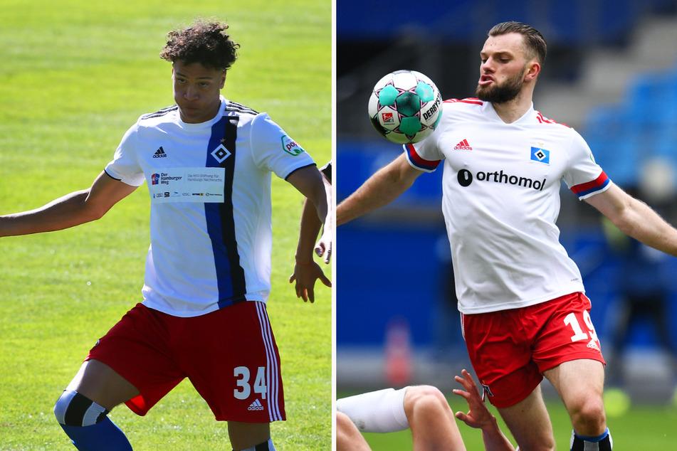 Innenverteidiger Jonas David (21, l.) und Stürmer Manuel Wintzheimer (22) haben sich mit starken Leistungen in die Startelf gespielt.