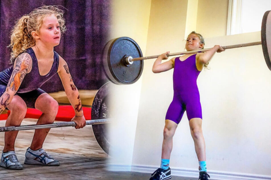"""""""Strongest girl in the world"""" can bench press 175 pounds at just seven years old"""