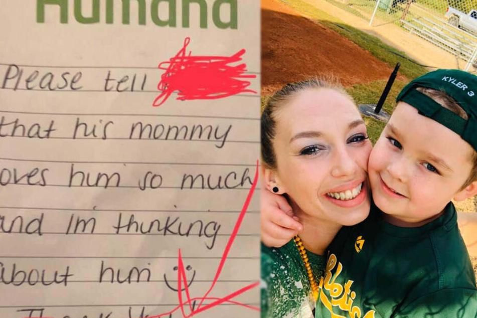 Mutter findet Nachricht in Brotdose ihres Sohnes und steht unter Schock