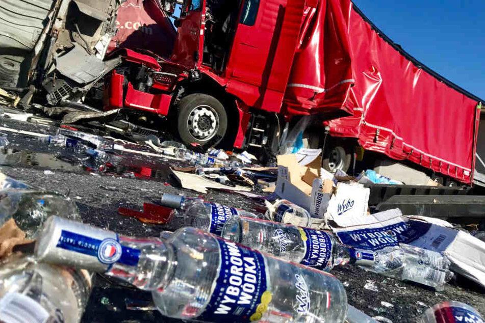 Glücklicherweise wurden nur zwei Personen bei dem Unfall verletzt.