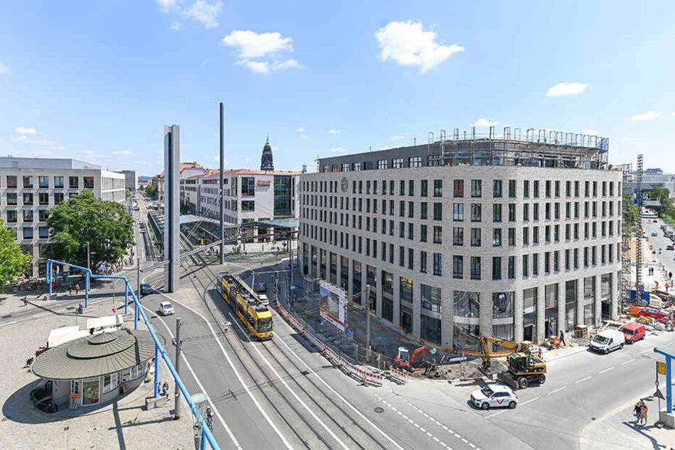 Die Bauarbeiten am imposanten Neubau befinden sich auf der Zielgeraden.