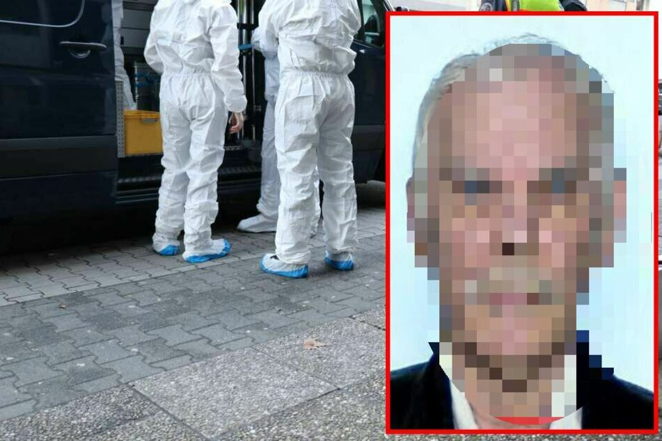 Fotomontage: Die Polizei fahndet noch immer mit Hochdruck nach dem 69-jährigen Lebensgefährten der Verstorbenen.