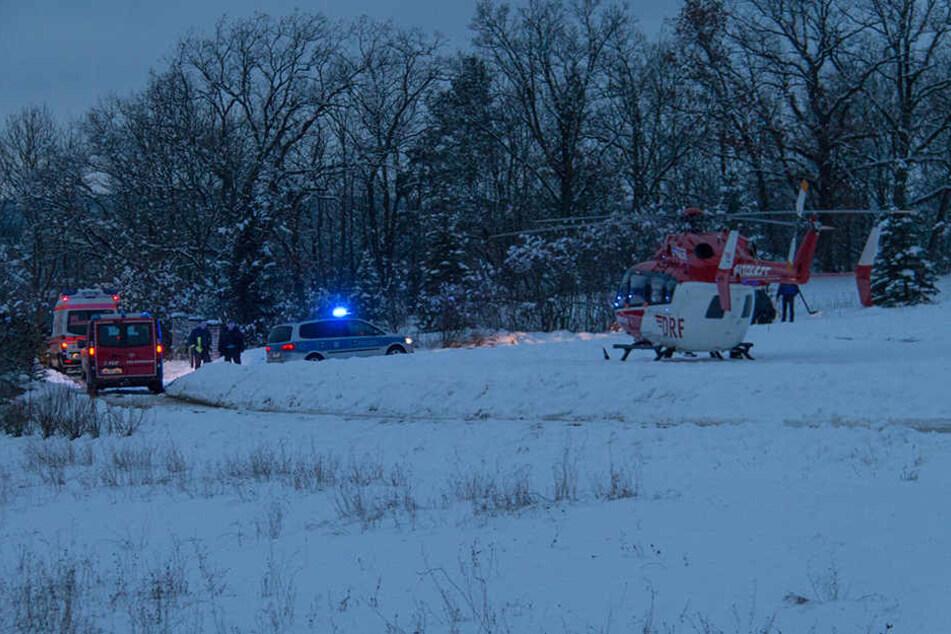 Per Rettungshubschrauber wurde das Kind ins Krankenhaus gebracht.
