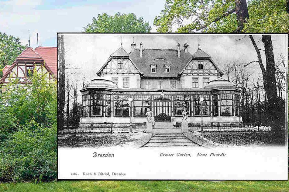 Ein historischer Blick auf das einst beliebte Ausfl ugslokalim Großen Garten.