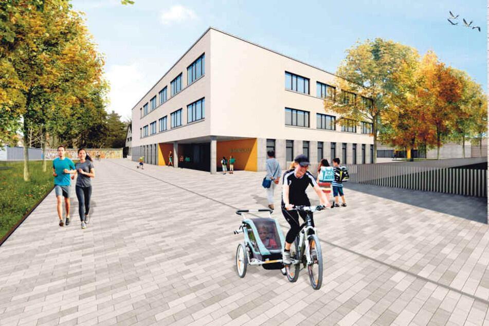 Einfach zu hässlich! Diese Schulfassade fiel auch im Stadtrat durch.