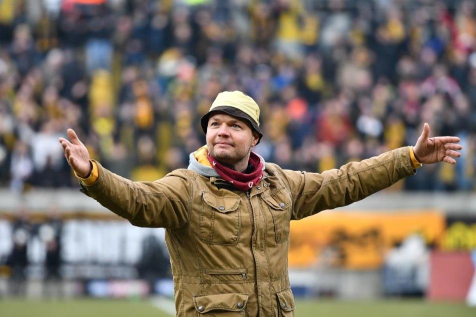 """Capo """"Lehmi"""" hat bei Dynamo Kultstatus, die Fans der Eintracht finden ihn offenbar nicht so toll."""