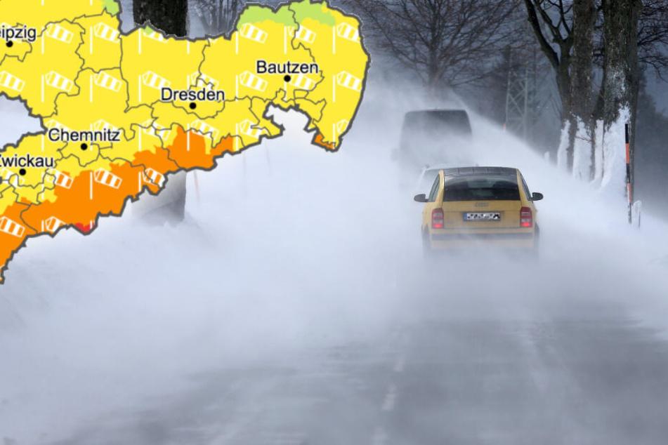 Wetterdienst warnt vor Orkanböen in Sachsen: Nicht im Freien aufhalten!