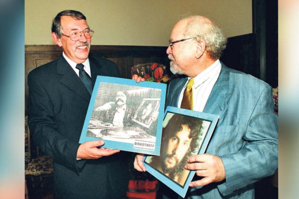 Ein DJ als Bürgermeister: Peter Fittig (l., mit Museumsleiter Thomas Schuler) machte diesen Schritt nach der Wende.