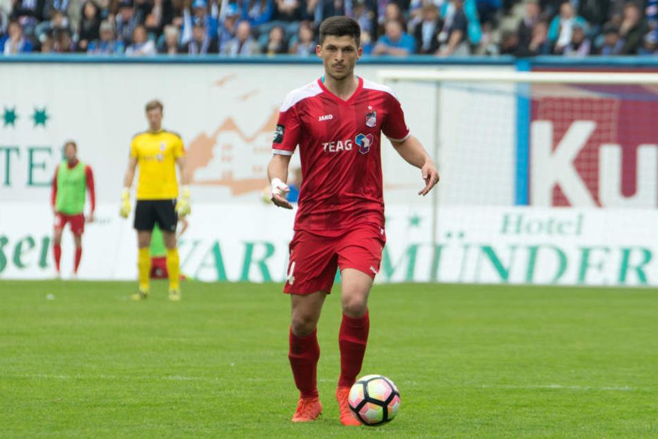 Jannis Nikolaou traf zum 1:0 für Erfurt.