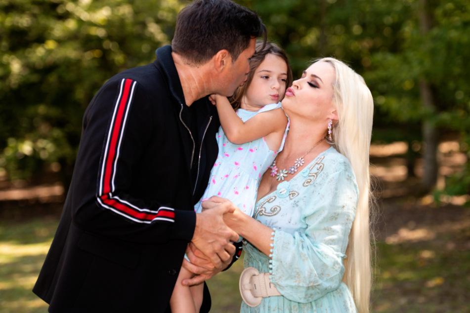 Die glückliche Familie: Lucas Cordalis (53) und Daniela Katzenberger (34).