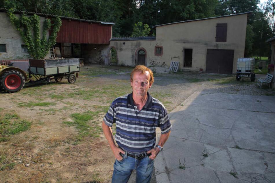 Seit sieben Jahren wohnt Frank Andrä auf dem Anwesen in Beiersdorf. Das Haus des Müllerpaares möchte er so erhalten, wie es ist.