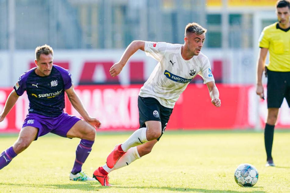 Philipp Förster (24, mittig im Bild) wechselt vom SV Sandhausen zum VfB Stuttgart.