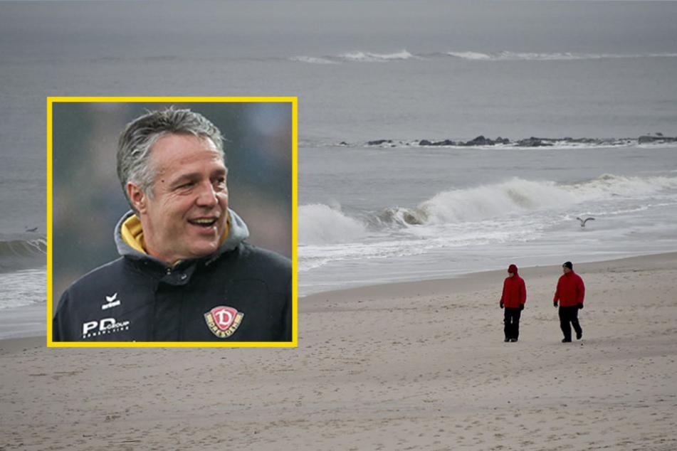 Dynamos Trainer Uwe Neuhaus zieht  es in diesem Jahr an die Nordsee.