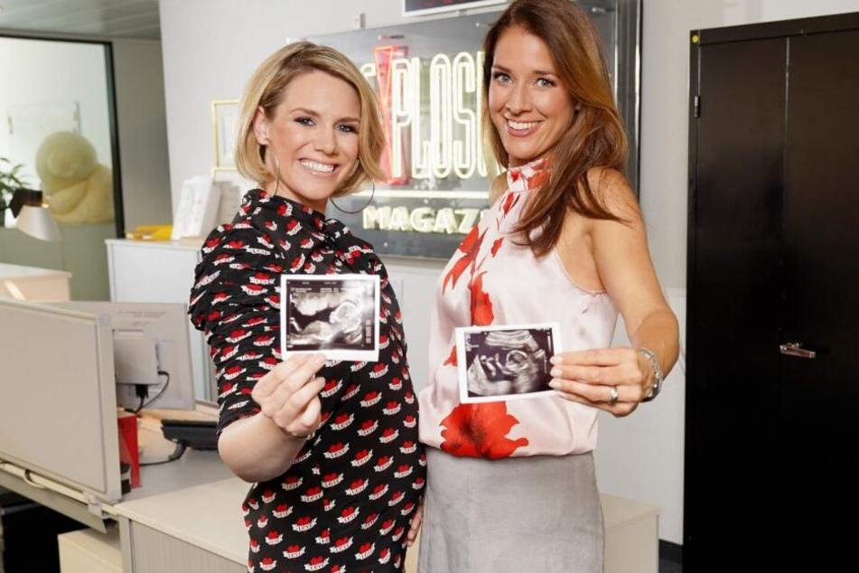 Sandra Kuhn (l,37) und Elena Bruhn (40) sind beide schwanger.