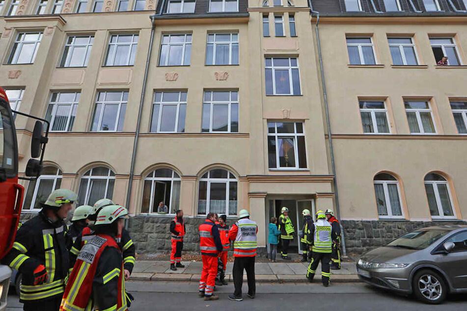 Etwa eine Stunde dauerte der Einsatz in dem Heim in Hohenstein-Ernstthal.