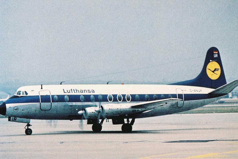 In einer ähnlichen historischen Vickers Viscount wurde das heiße Filmchen gedreht. (Symbolbild)