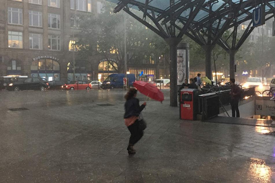 Am Donnerstag zogen schwere Unwetter über Deutschland (hier Hamburg) her.