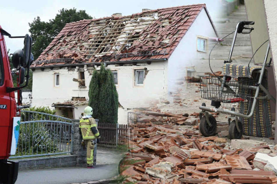 Haus explodiert! Frau mit schweren Brandverletzungen in Spezialklinik