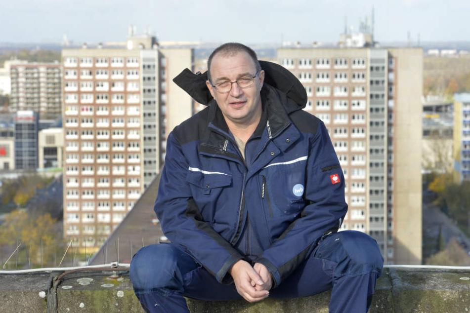 Peter Oelpke ist seit September für die vier LWB-Hochhäuser in der Stuttgarter Allee zuständig.