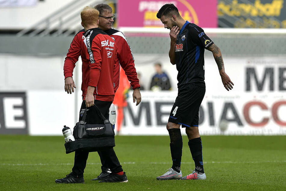 Massih Wassey musste gegen Osnabrück noch vor der Pause vom Platz.