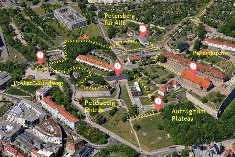 So sehen die Pläne der Stadt für den neuen Petersberg aus.
