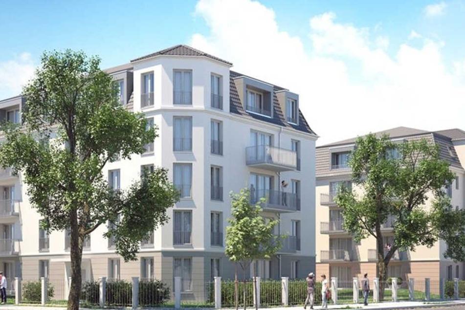 Innerhalb des Denkmalschutzgebietes Blasewitz-Striesen entsteht diese WiD-Stadtvilla. Das Baufeld wurde bereits frei gemacht.